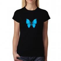 Blue Butterfly Animals Women T-shirt XS-3XL New
