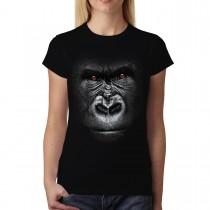 Gorilla Face Animals Women T-shirt M-3XL New
