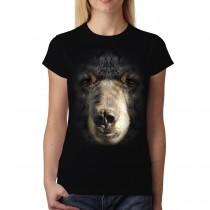 Black Bear Face Animal Women T-shirt M-3XL New