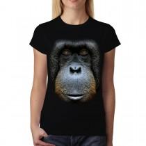 Orangutan Face Animals Women T-shirt S-3XL New