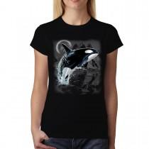 Killer Whale Wild Sea Animals Women T-shirt S-3XL New