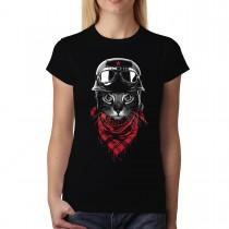 Biker Cat Women T-shirt XS-3XL New