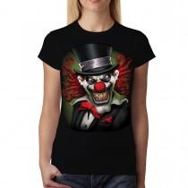 Crazy Clown Smile Funny Hat Women T-shirt M-3XL New