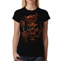 Skull King Crown Smoke Women T-shirt M-3XL New
