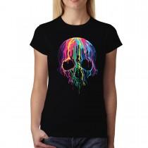 Melting Skull Horror Women T-shirt XS-3XL New