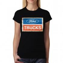 Ford Truck Logo Classic Women T-shirt M-3XL New