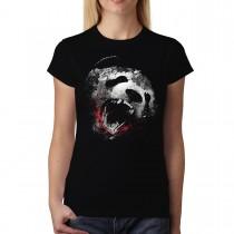 Killer Panda Face Animals Women T-shirt XS-3XL New