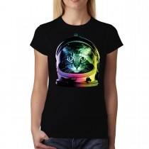Astronaut Space Cat Women T-shirt XS-3XL New
