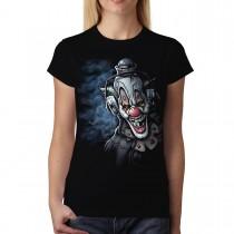 Clown Headphones Funny Women T-shirt M-3XL New