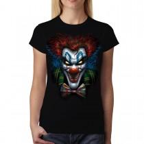 Psycho Clown Funny Women T-shirt M-3XL New