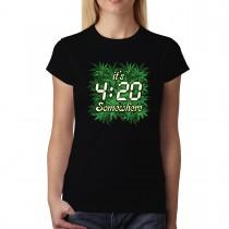 Pot Weed Cannabis Marijuana Women T-shirt XS-3XL New