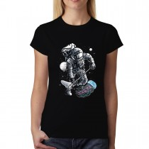 Astronaut Jellyfish Space Walk Womens T-shirt XS-3XL