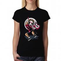 Rock Star Guitar Killer Women T-shirt XS-3XL