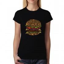 Cheeseburger Cheat Meal Womens T-shirt XS-3XL