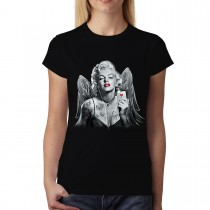 Marilyn Monroe Hearts Butterflies Angel Women T-shirt XS-3XL