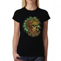 Indian Skull Totem Womens T-shirt XS-3XL