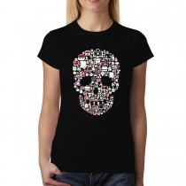School Education Skull Womens T-shirt XS-3XL