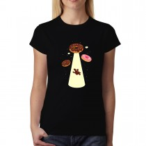 Doughnut UFO Abduction Donut Women T-shirt XS-3XL