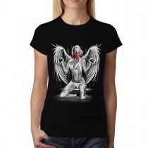 Marilyn Monroe Angel Guns Mask Women T-shirt L-3XL