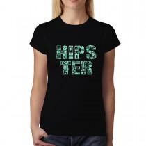 Hipster Moustache Trendy Womens T-shirt XS-3XL