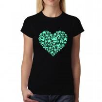 Home Heart Womens T-shirt XS-3XL