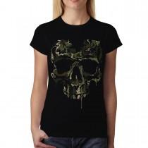 Soldier Skull Military Womens T-shirt M-3XL