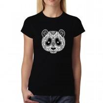 Panda Cross Tattoo Womens T-shirt XS-3XL