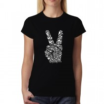 V-Sign Symbol of Victory Peace Womens T-shirt XS-3XL