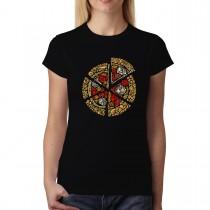 Pizza Slice Dough Cheese Womens T-shirt XS-3XL
