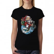 Santa Claus Gift Delivery Womens T-shirt XS-3XL