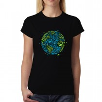 UFO Earth Invasion Planet Womens T-shirt XS-3XL