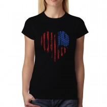 American Heart USA Womens T-Shirt XS-3XL