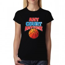 Basketball Court Women T-shirt XS-3XL New