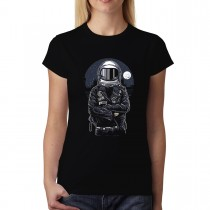 Astronaut Pilot Rebel Womens T-shirt XS-3XL