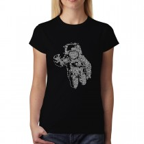 Astronaut Space Mission Cosmos Womens T-shirt XS-3XL