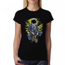 Astronaut Businessman Cyclist Womens T-shirt XS-3XL