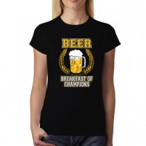 Beer Alcohol Breakfast Of Champions Women T-shirt XS-3XL New
