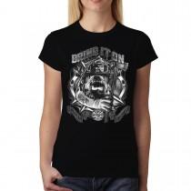 Bulldog Fireman Axe Women T-shirt XS-3XL New
