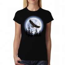 Flying Eagle Dark Night Women T-shirt XS-3XL New