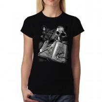 Journal Diary Skull Book Women T-shirt XS-3XL New
