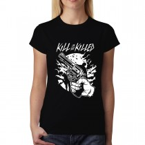 Gun Self Defence Zombies Womens T-shirt XS-3XL