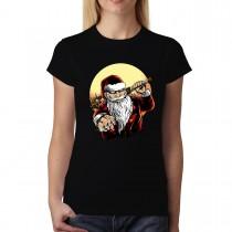 Santa Claus Gangster Womens T-shirt XS-3XL