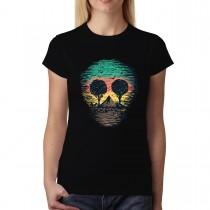Volcano Trees Nature Mask Womens T-shirt XS-3XL