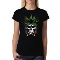 Pothead Skull Smoking Joints Women T-shirt XS-3XL New