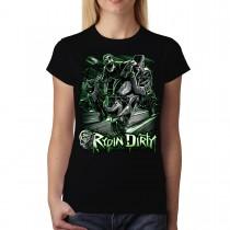 Motorbike Wheelie Rydin Dirty Women T-shirt XS-3XL New