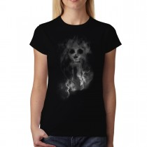 Smoke Skull Death Women T-shirt XS-3XL New