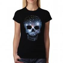 Space Skull Stars Galaxy Women T-shirt XS-3XL New