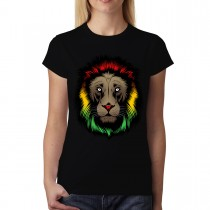 Rasta Lion Reggae Womens T-shirt XS-3XL