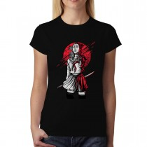 Samurai School Girl Katana Assassin Womens T-shirt XS-3XL