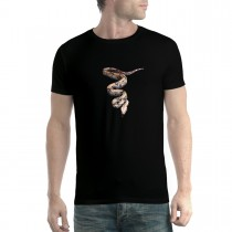 Python Snake 3D Animals Men T-shirt XS-5XL